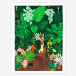 poster plant addict lady -...
