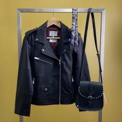 Perfecto noir - cuir recyclé