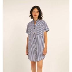 Robe bleu denim