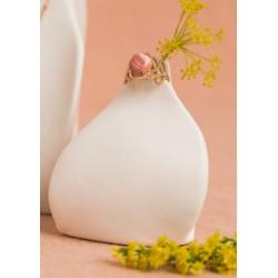 bague opale rose