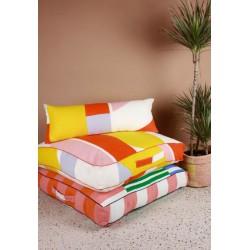 coussin rectangulaire orange