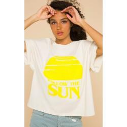 T-shirt follow the sun - jaune