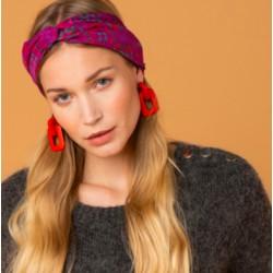 Headband croisé en soie -...