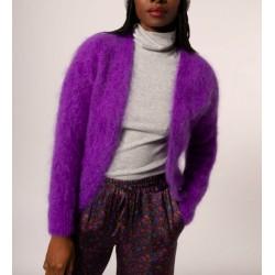 gilet mohair - violet