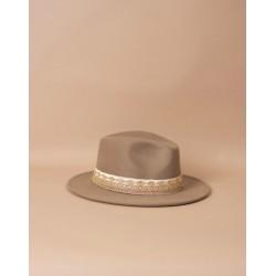 chapeau en feutre - taupe
