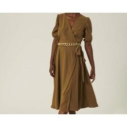 Robe bronze en crêpe
