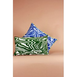 coussin marquise bleu