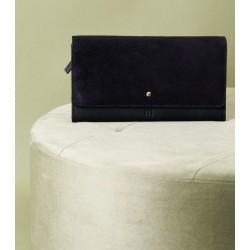 portefeuille bi matière noir